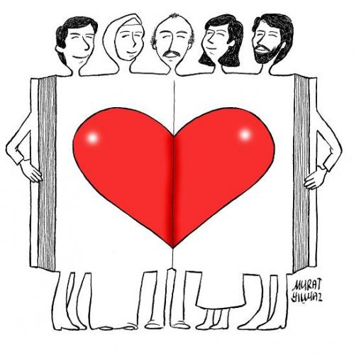 Cartoon: human and love (medium) by Murat tagged human,and,love
