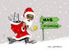 Cartoon: noel 2010 (small) by muharrem akten tagged noel,2010,obama,barack,hosein,huseyin,prezidident,baskan,caricature,karikatur,humor,mizah,turkish,cartoonizt,cartoon,karikaturist,muharrem,akten,cizgi,art,sanat,cizer