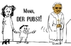 Cartoon: mama! der pubst ! (small) by nootoon tagged pabst pubst pope nootoon
