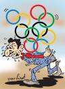 Cartoon: Olympic and laborers (small) by komikadam tagged olympic,and,laborers