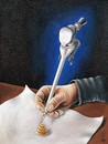 Cartoon: pen (small) by ASKIN AYRANCIOGLU tagged pen