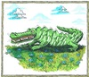 Cartoon: Buchmesse (small) by mandzel tagged buchmesse,alligator,bücher