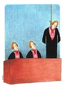 Cartoon: remorse (small) by cemkoc tagged remorse,cem,koc,judge,judgment,trial,court