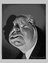 Cartoon: Alfred Hitchcock (small) by rocksaw tagged caricature alfred hitchcock