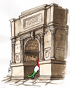 Cartoon: Italia (small) by Tchavdar tagged italia,risorgimento,unita,tchavdar,150,anni