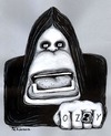 Cartoon: Ozzy Osbourne (small) by Tchavdar tagged black sabbath ozzy osbourne paranoid rock music