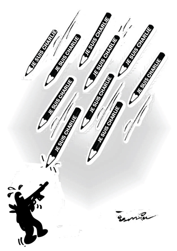 Cartoon: je suis Charlie (medium) by ismail dogan tagged je,suis,charlie