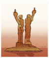Cartoon: MONUMENT OF HUMANITY !.. (small) by ismail dogan tagged turkey
