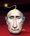 Cartoon: Putin (small) by Halil I YILDIRIM tagged putin