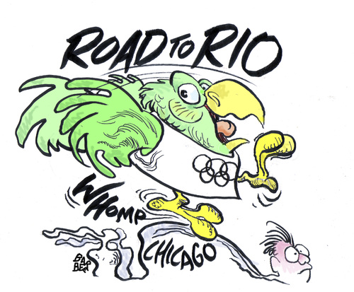 Cartoon: OLYMPICS (medium) by barbeefish tagged chicago