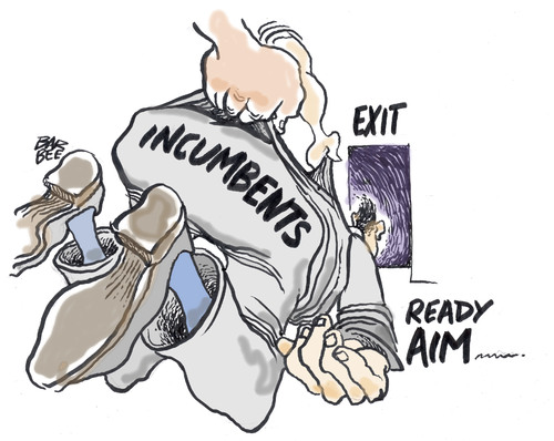 Cartoon: the bums (medium) by barbeefish tagged elections