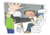 Cartoon: full HD (small) by ailuj tagged hd,tv,westerwelle,klientelpartei,fdp,nachrichten,politik