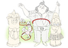 Cartoon: the King of hula-hoop (small) by ailuj tagged fat,elvis,the,king,hula,hoop,tiki,hawaii