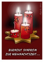 Cartoon: Burnout Syndrom (small) by Miguelez tagged burnout,syndrom,müde,kerze,advent,weihnachten,feuer