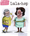 Cartoon: La grana Battisti passa a Dilma (small) by portos tagged lula,dilma,battisti