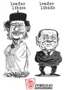 Cartoon: LEADERS (small) by portos tagged gheddafi,berlusconi