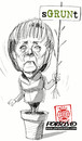 Cartoon: Merkel (small) by portos tagged merkel,verdi,grun,grunen