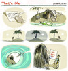 Cartoon: that s life (small) by portos tagged desert,island