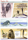 Cartoon: That s life (small) by portos tagged desert,island,castaway,made,in,italy