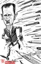 Cartoon: W Ali Farzat (small) by portos tagged ali,farzat,assad,siria,cartoonist