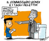 Cartoon: Tagli selettivi (small) by darix73 tagged bondi,tagli,darix