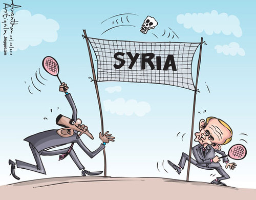 Cartoon: Syria (medium) by awantha tagged syria