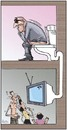 Cartoon: TV (small) by awantha tagged tv
