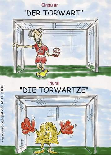Cartoon: Lausitzer Mundart (medium) by boogieplayer tagged fussball