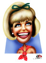Cartoon: Doris Day (small) by saadet demir yalcin tagged dorisday,syalcin