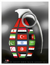Cartoon: grenade... (small) by saadet demir yalcin tagged saadet,syalcin,sdy,war,flags,country