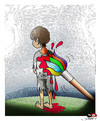 Cartoon: One color (small) by saadet demir yalcin tagged saadet syalcin sdy turkey war color brush