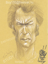 Cartoon: EASTWOOD STUDY (small) by T-BOY tagged eastwood,study