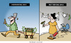 Cartoon: Der kleine Unterschied. (small) by Nottel tagged herrentag,muttertag,ehe,beziehung