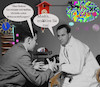 Cartoon: the doc is in (small) by wheelman tagged doktor,patient,krank,hirn,kopf