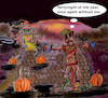 Cartoon: unhappy halloween (small) by wheelman tagged halloween,scarecrow