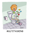 Cartoon: Multitasking (small) by mikess tagged multitasking work office business clown clowns circus juggling toilet washroom flush poo paper