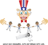 Cartoon: Uncle Sam and Obama (small) by gulekk tagged uncle,sam,obama,dream,truth