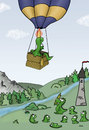Cartoon: Ich bin dann mal weg (small) by katelein tagged reise,kate,katelein,verreisen,aufbruch,journey,travel,drache,dragon,balloon,hotair,heißluftballon