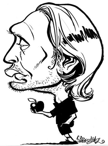 Cartoon: Mads Mikkelsen (medium) by stieglitz tagged mads,mikkelsen,caricatura,caricature,karikatur