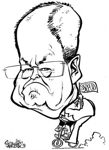 Cartoon: Peer Steinbrück Karikatur (medium) by stieglitz tagged peer,steinbrück,karikatur,caricature,caricatura