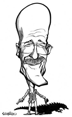 Cartoon: Walter White (medium) by stieglitz tagged stieglitz,daniel,by,karikatur,caricatura,caricature,alias,cranston,bryan,white,walter