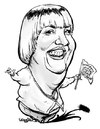 Cartoon: Claudia Roth (small) by stieglitz tagged claudia,roth,karikatur