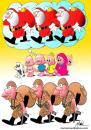 Cartoon: No Title (small) by Marcos Noel tagged christmas,war,children,comic,world,global,kids