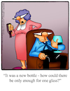 Cartoon: Big Wine Glass (small) by Billcartoons tagged wine,drinking,husband,wife,marriage,romance,romantic,love