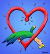 Cartoon: In Love (small) by dbaldinger tagged happiness,heart,hearts,love