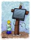 Cartoon: Tis The Season (small) by dbaldinger tagged consumerism christmas walmart crucification television