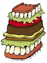Cartoon: teehtburger (small) by alexfalcocartoons tagged teehtburger
