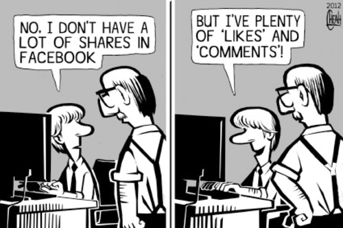 Cartoon: Facebook IPO (medium) by sinann tagged facebook,ipo,shares,likes,comments