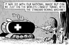 Cartoon: Longest tunnel in the world (small) by sinann tagged longest tunnel swiss knife switzerland
