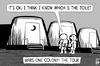 Cartoon: Mars One colony (small) by sinann tagged mars,one,colony,toilet,tour